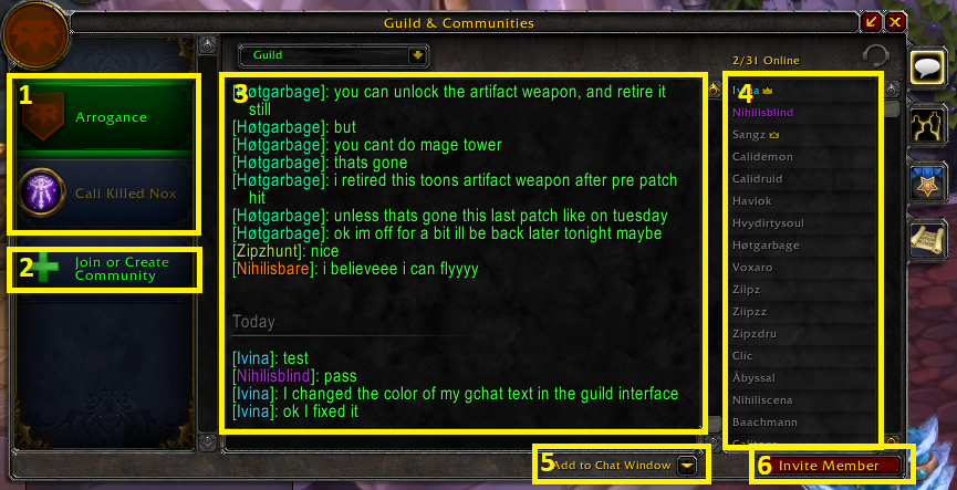 Guild Panel Chat