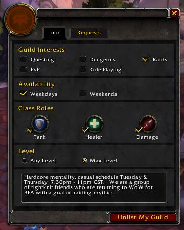 Guild Panel Recruitment