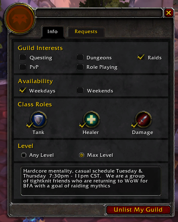 BFA – Page 2 – Diary of a Guild Leader