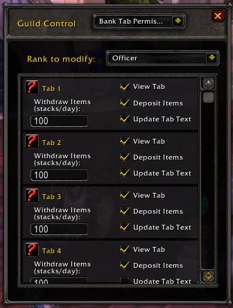 Guild Settings Bank Permissions