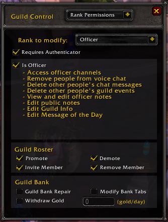 Guild Settings Rank Permission
