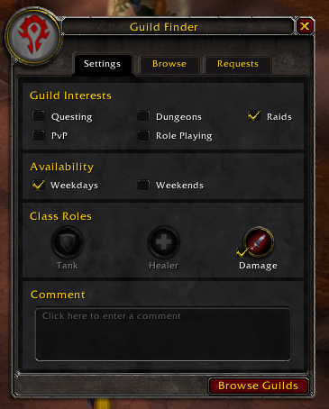 Browse Guilds