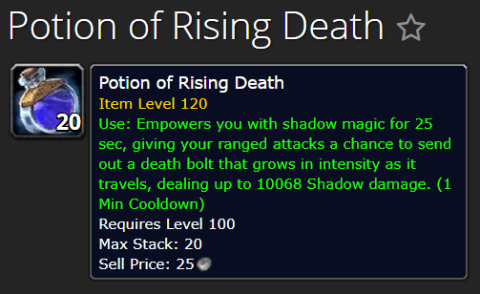 potion of rising death